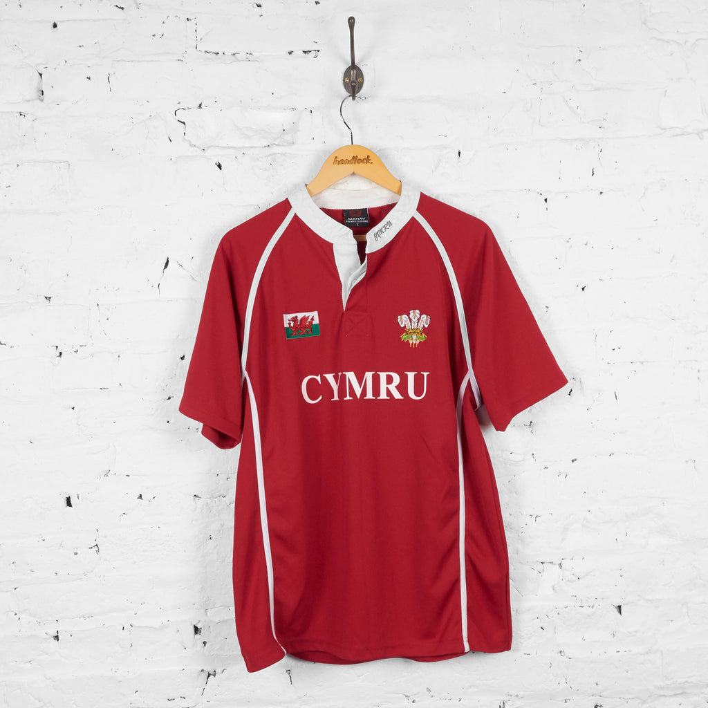 Wales Home Rugby Shirt - Red - L