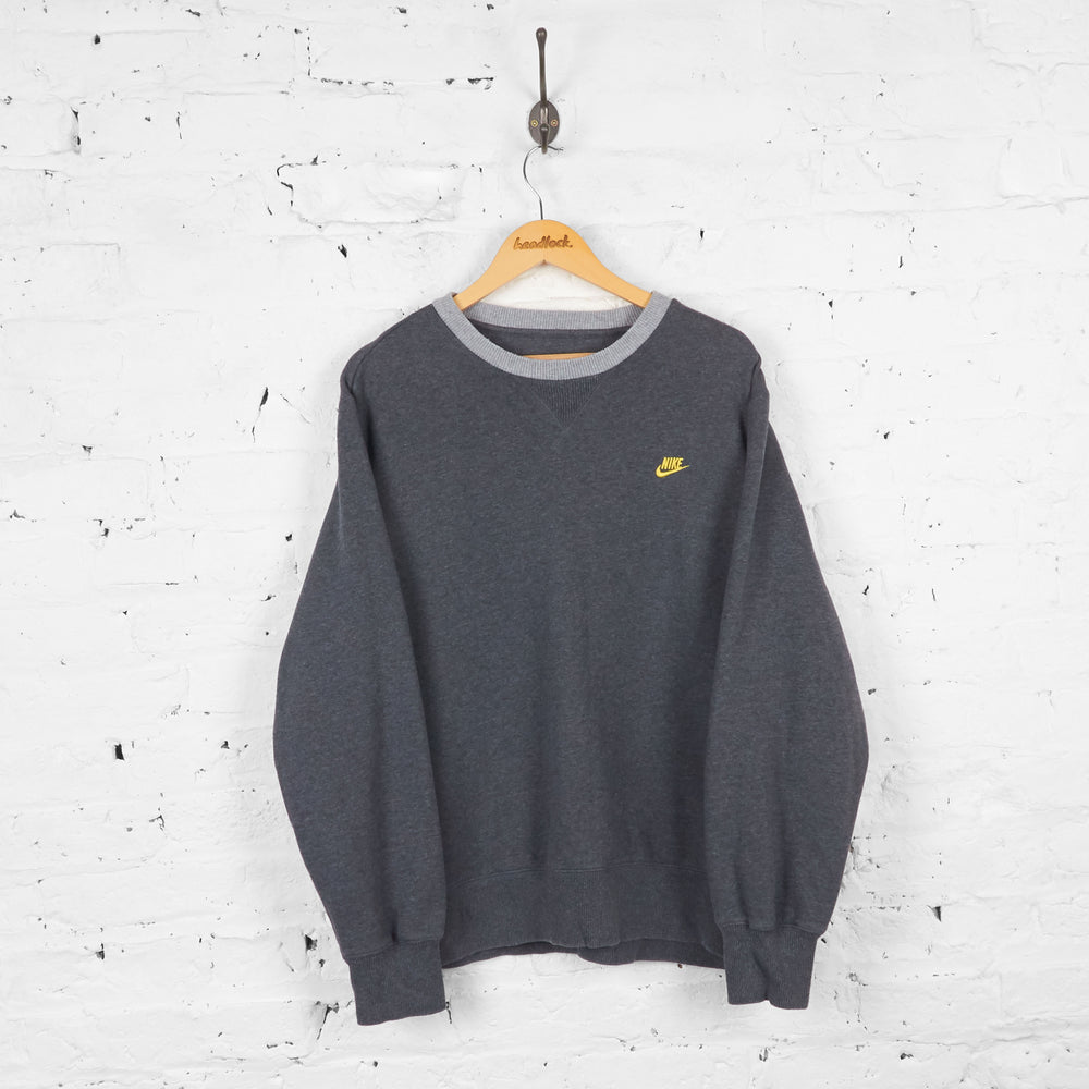 Vintage Nike Sweatshirt - Grey - XL