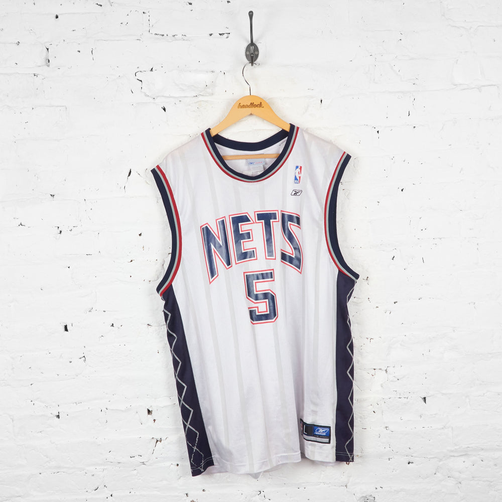 Vintage Reebok Brooklyn Nets NBA Jersey - White - L