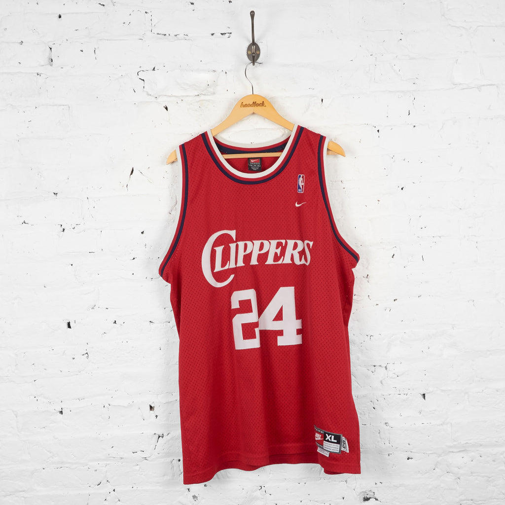 Vintage Nike Los Angeles Clippers NBA Jersey - Red - XL