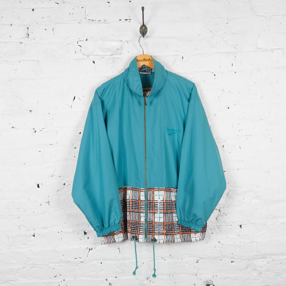 Vintage Reebok Windbreaker Jacket - Blue - L