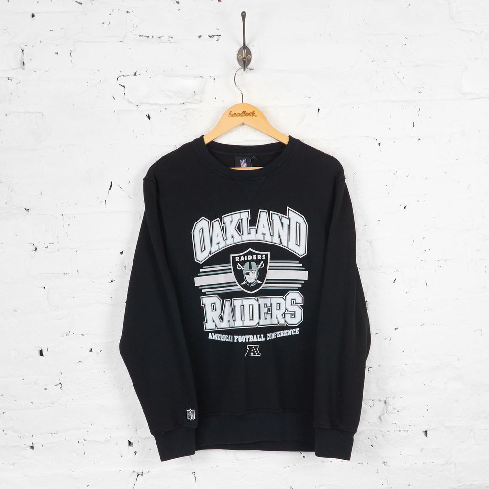 Vintage Oakland Raiders NFL Sweatshirt - Black - M