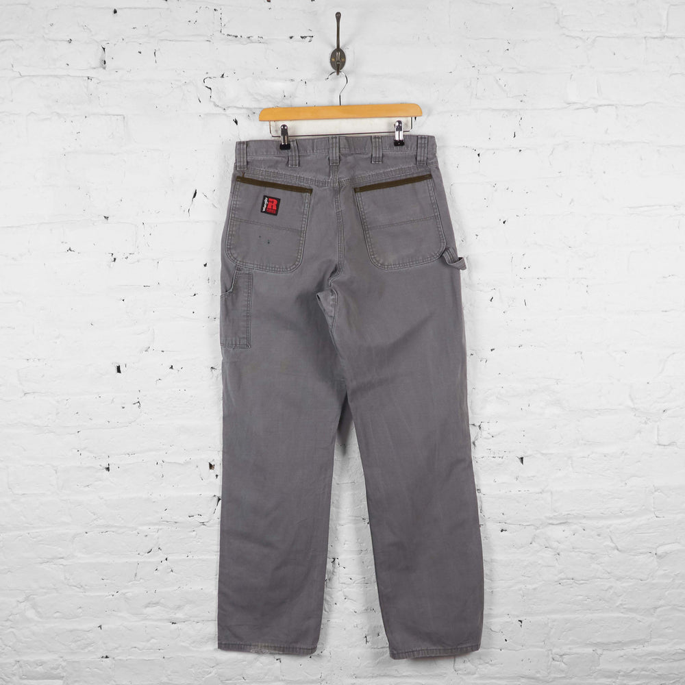 Vintage Wrangler Cargo Trousers - Grey - L