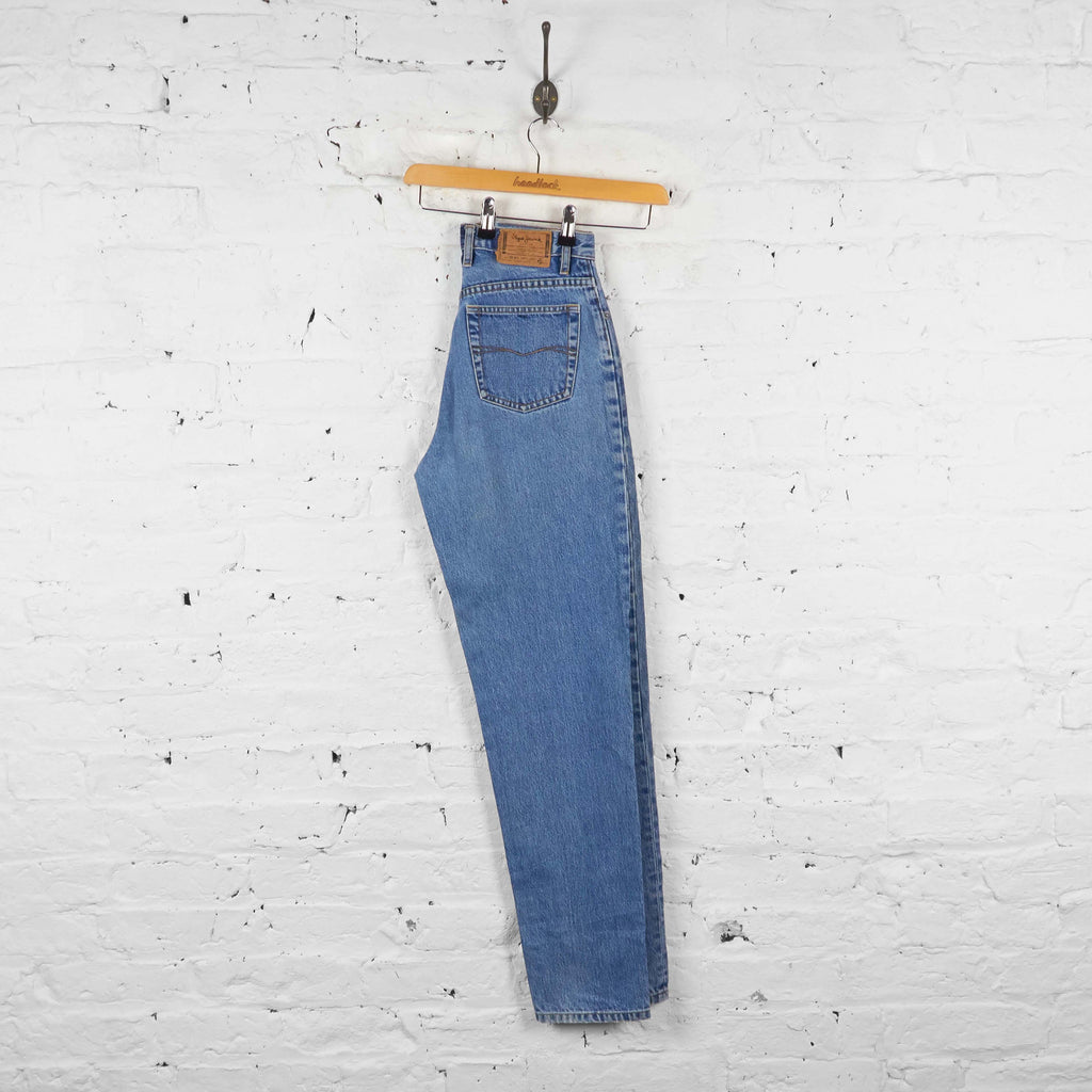 Vintage Women's High Waisted Jeans - Blue - S