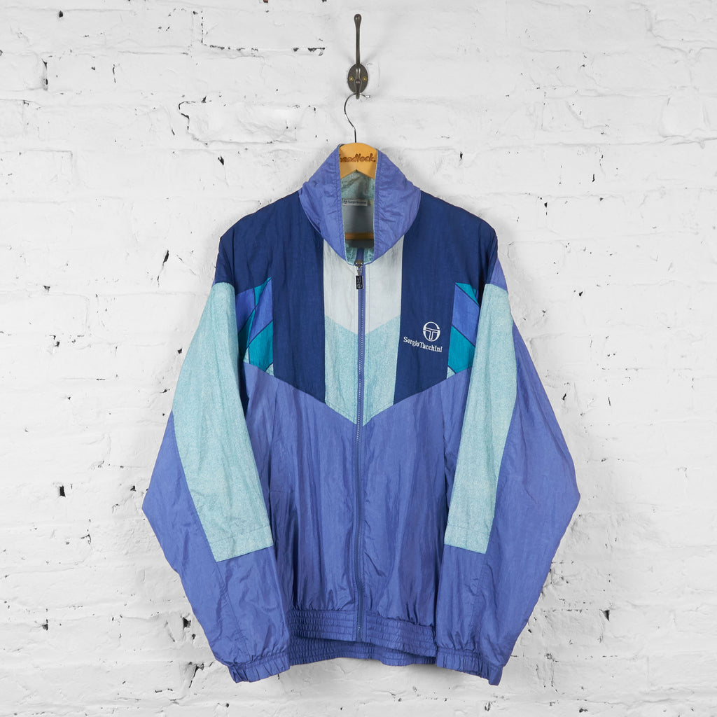 Vintage Sergio Tacchini Patterned Windbreaker - Purple - XL - Headlock