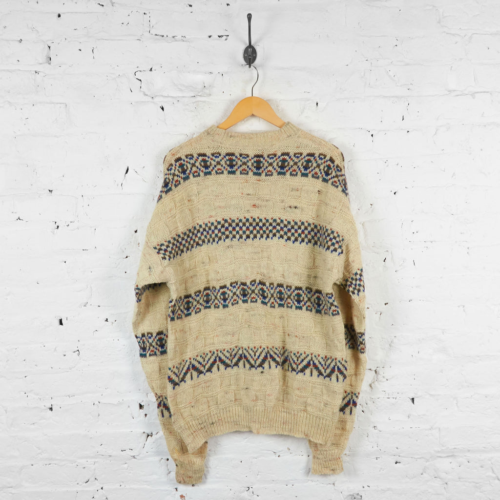 Vintage Pendleton Patterned Jumper - Cream - XL