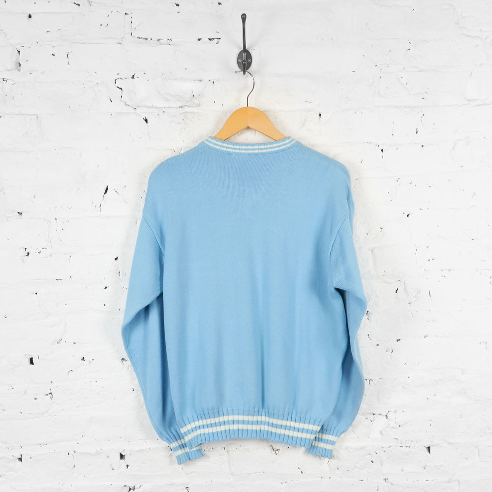 Vintage North Sails V-Neck Jumper - Blue - L