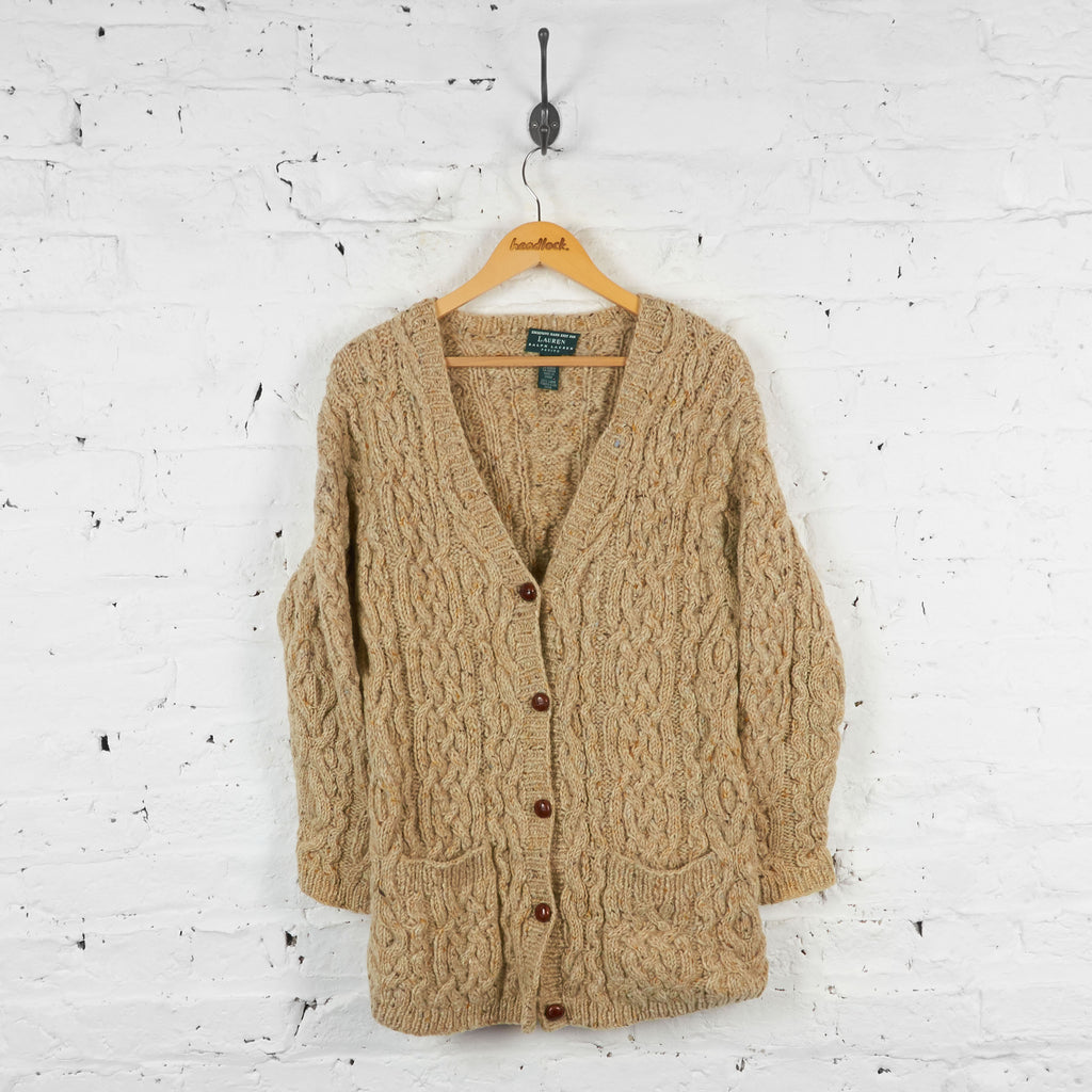 Vintage Women's Ralph Lauren Polo Cardigan - Cream - S
