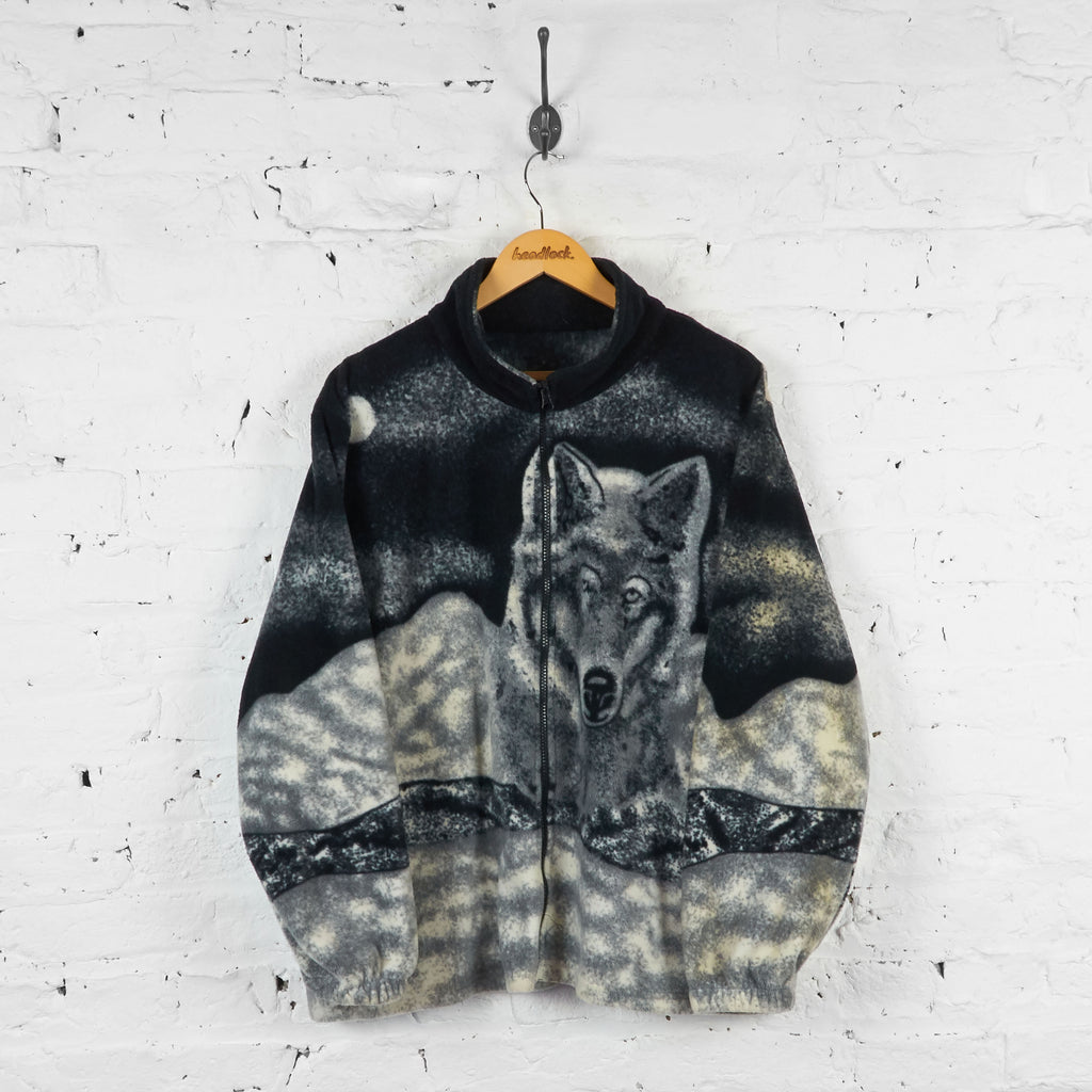 Vintage Wolf Fleece - Black - L - Headlock
