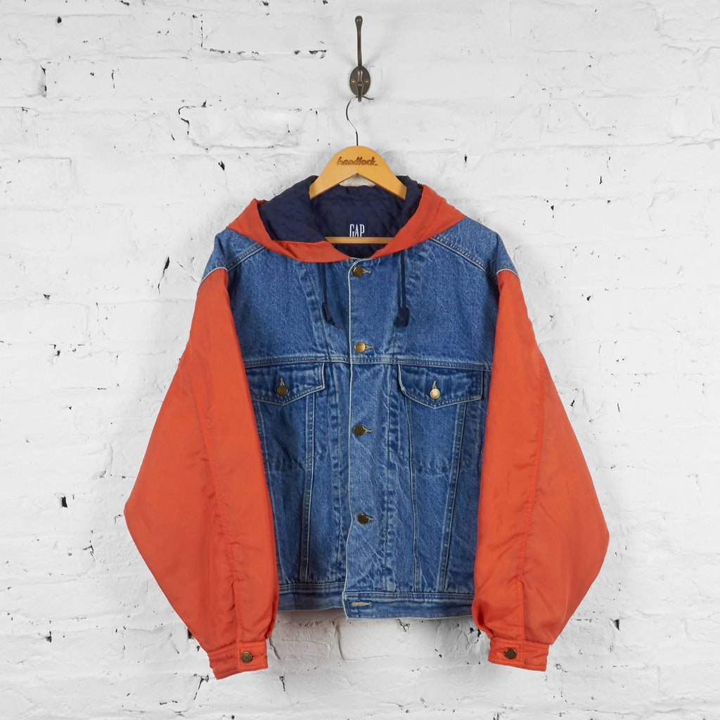 Vintage Gap Denim Jacket - Blue/Orange - M - Headlock