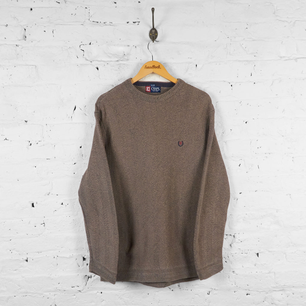 Vintage Ralph Lauren Chaps Jumper - Brown - L