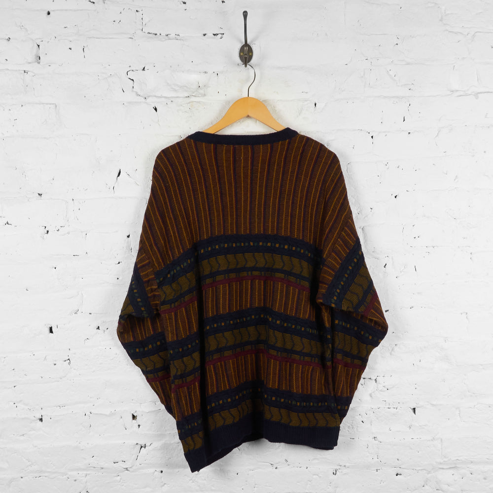 Vintage Pattern Jumper - Brown - XL