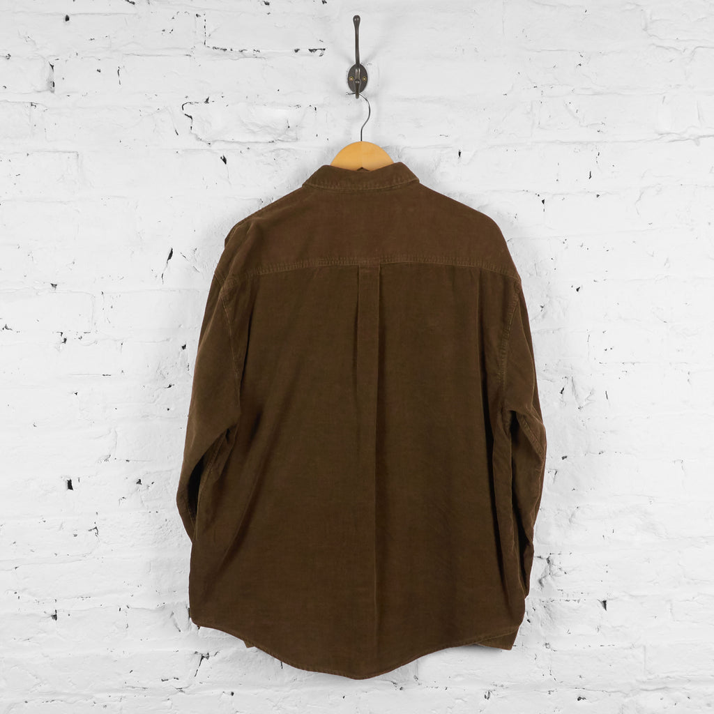 Vintage Corduroy Shirt - Brown - L