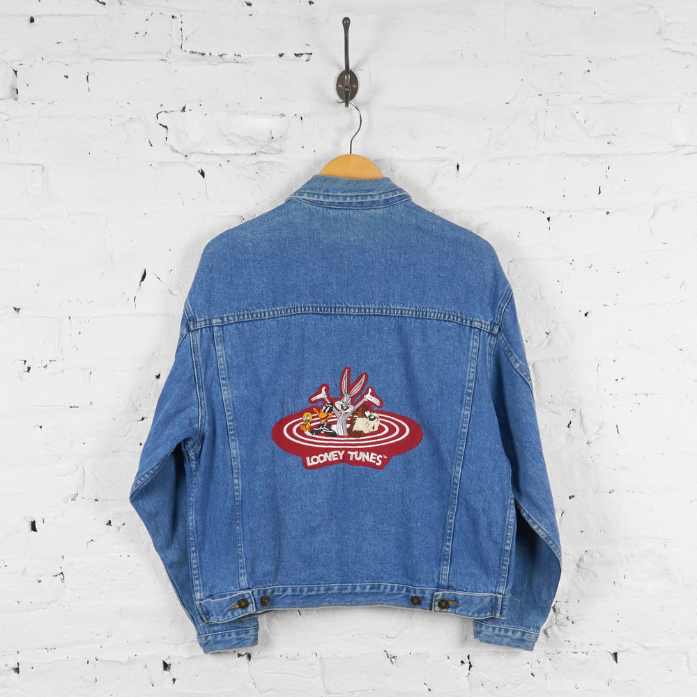 Vintage Looney Tunes Denim Jacket - Blue - S - Headlock