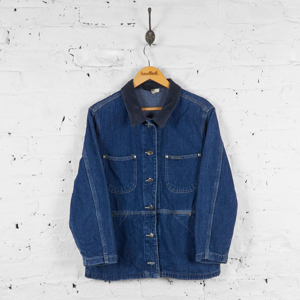 Vintage Lee Riveted Denim Jacket - Blue - S - Headlock