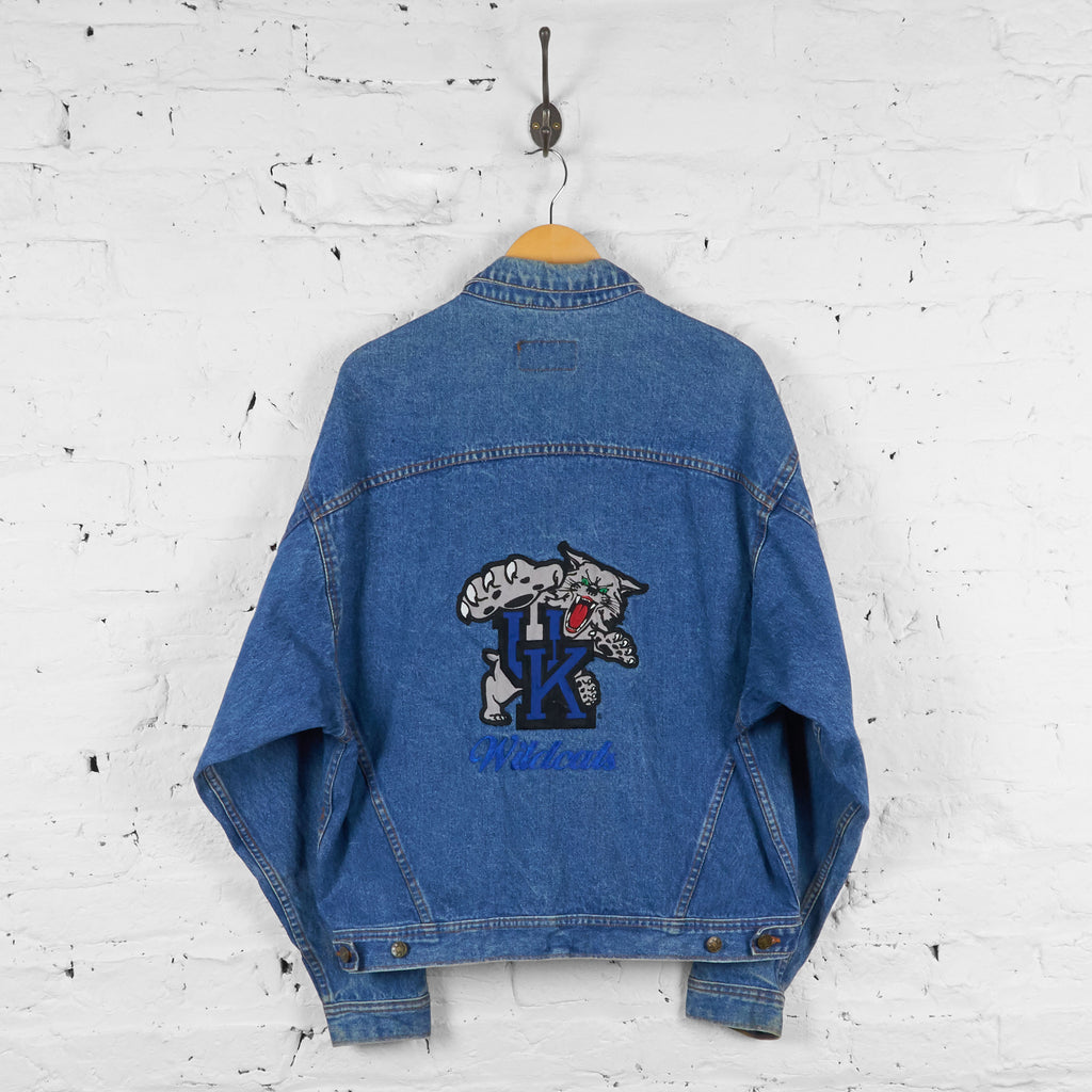 Vintage Kentucky Wildcats Denim Jacket - Blue - L - Headlock