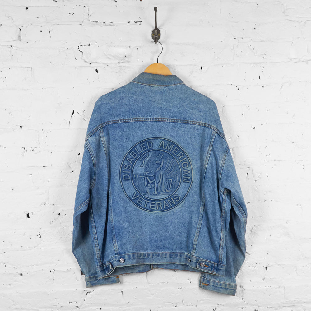 Vintage Embossed Denim Jacket - Blue - L - Headlock