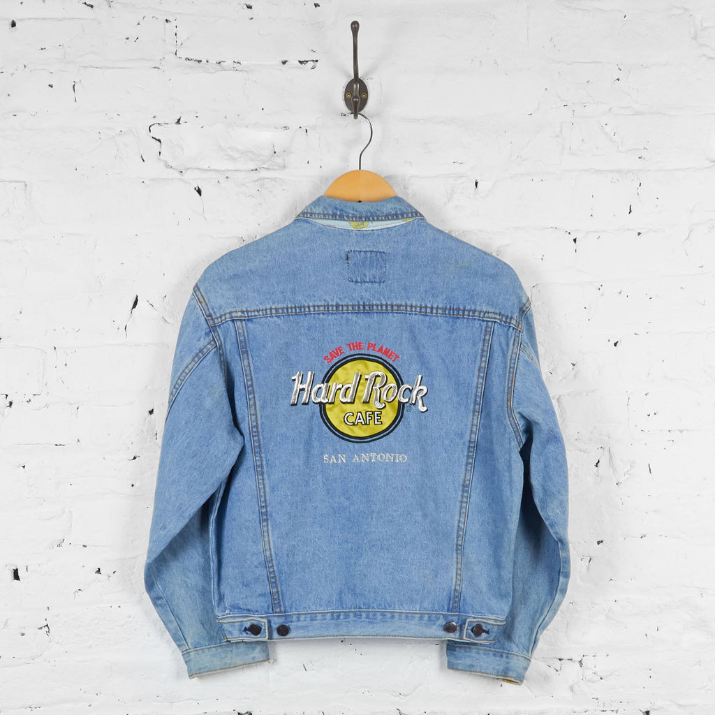 Vintage Hard Rock Cafe Denim Jacket - Blue - S - Headlock