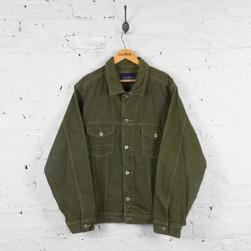 Vintage Nautica Denim Jacket - Khaki - XL - Headlock