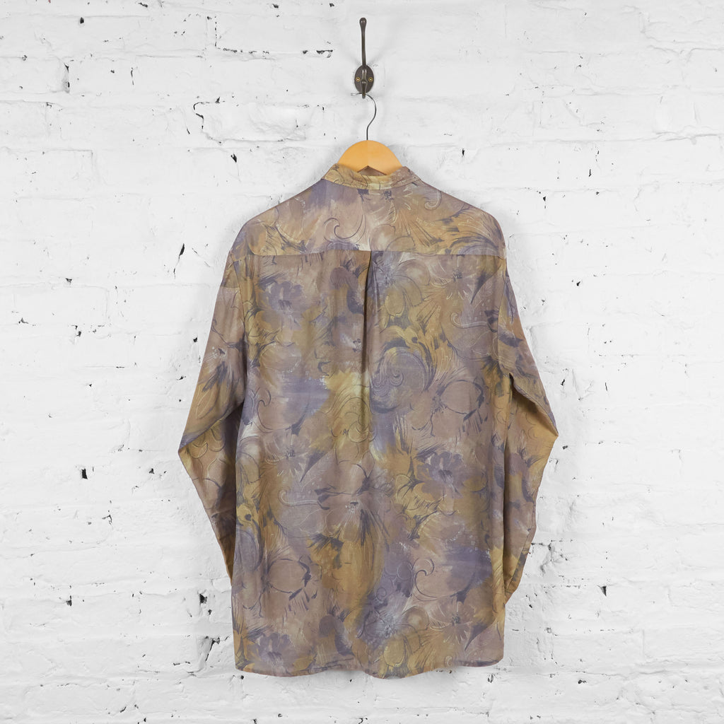 Vintage Pattern Shirt - Brown/Green - L