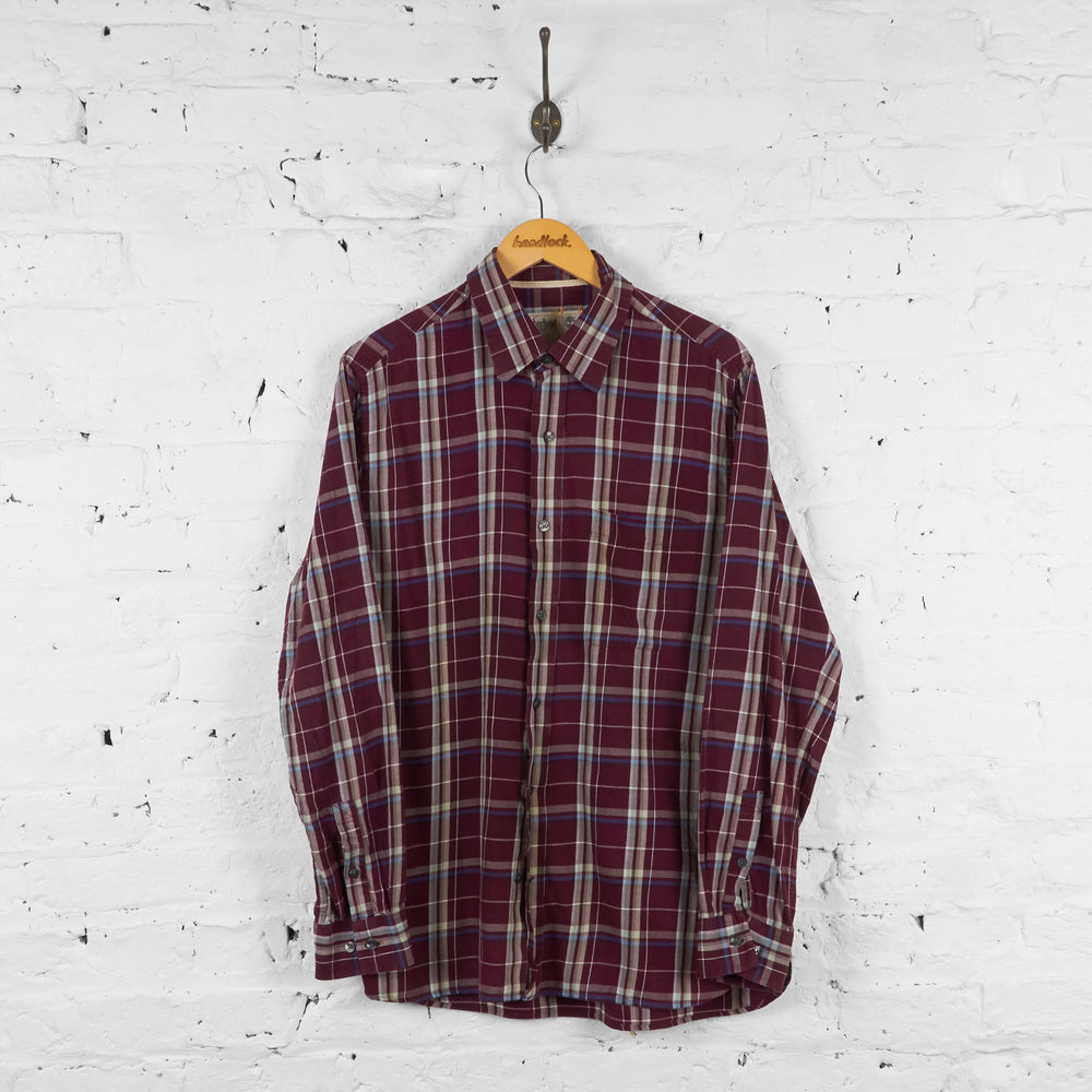 Vintage Timberland Checked Shirt - Red - L - Headlock