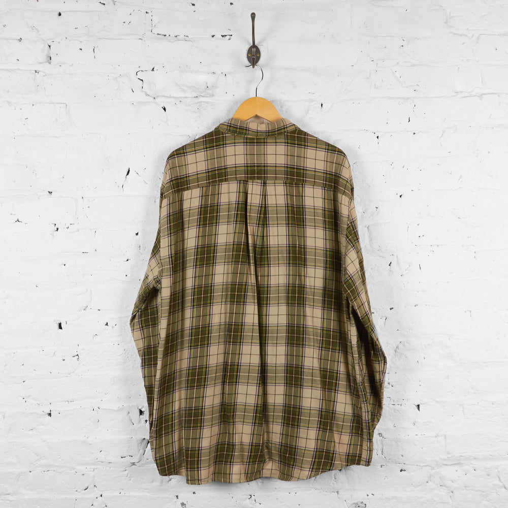 Vintage Tommy Hilfiger Checked Shirt - Brown - XXL