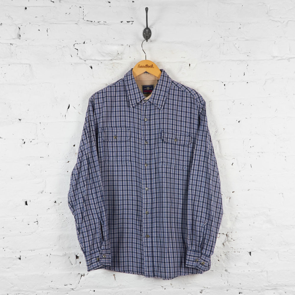 Vintage Wrangler Checked Shirt - Blue - L