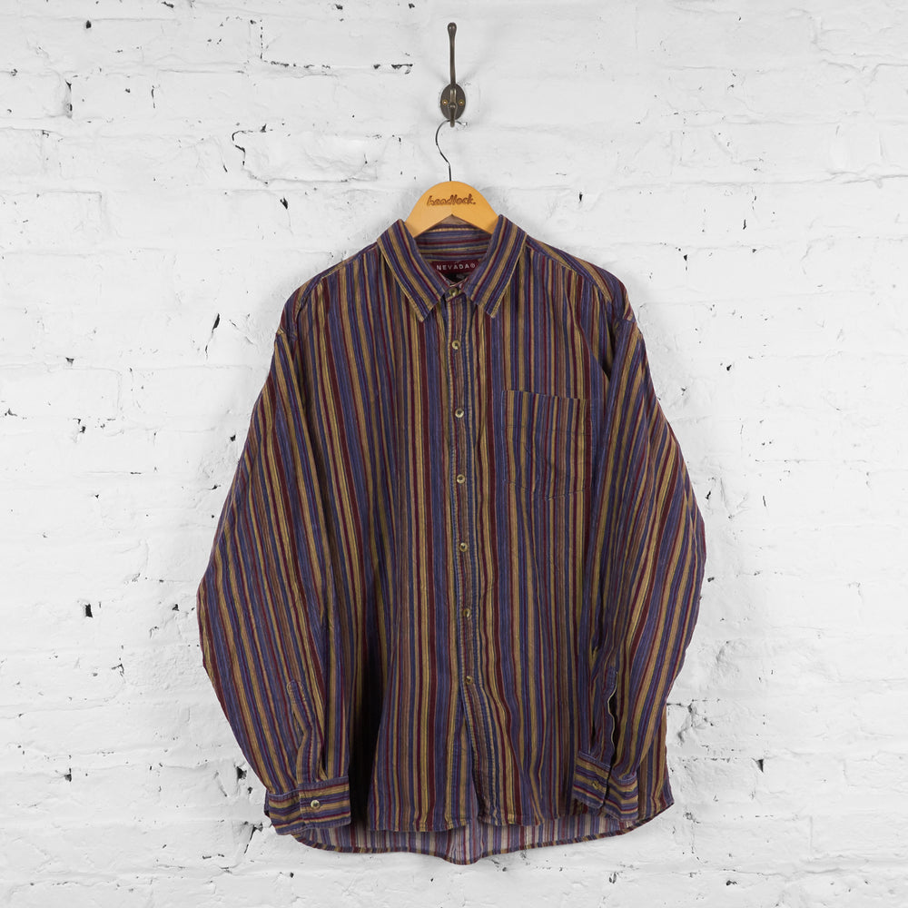 Vintage Striped Pattern Shirt - Multi - L