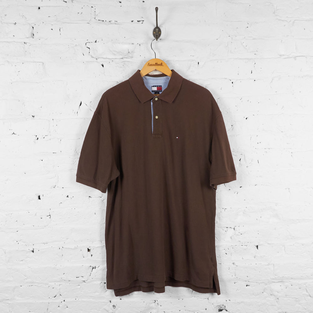 Vintage Tommy Hilfiger Polo Shirt - Brown - XL