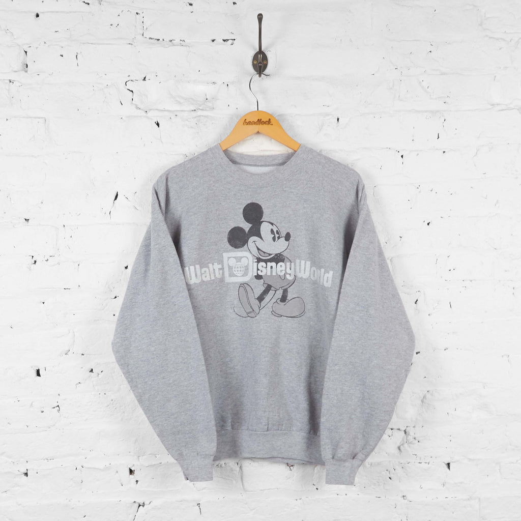 Walt Disney World Mickey Mouse Sweatshirt - Grey - M - Headlock