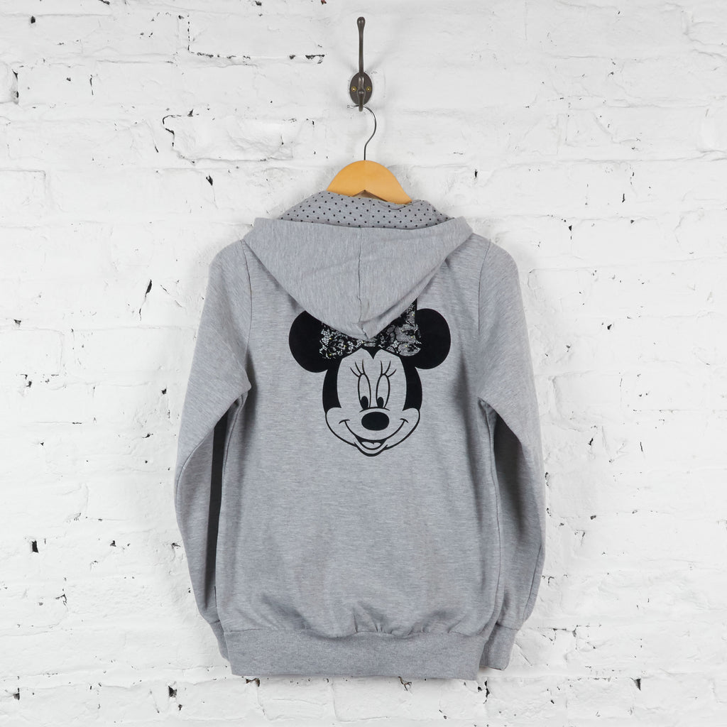 Womens Disney Minnie Mouse Full Zip Hoodie - Grey - Womens L