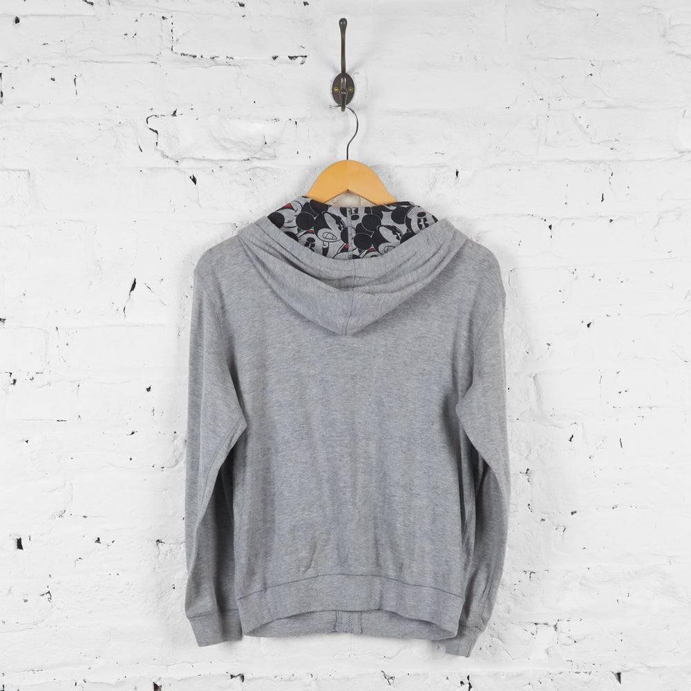 Womens Mickey Mouse Full Zip Hoodie - Grey - Womens S