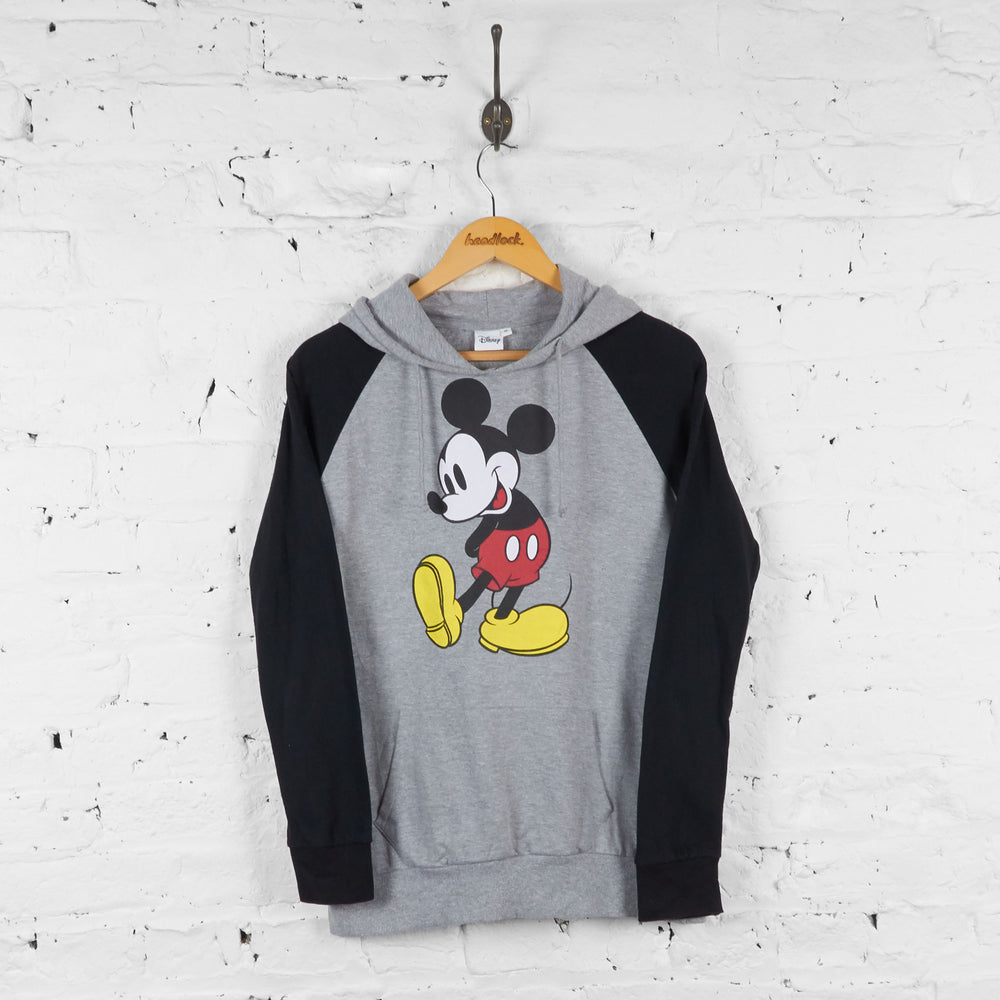 Womens Mickey Mouse Hoodie - Grey - Womens L