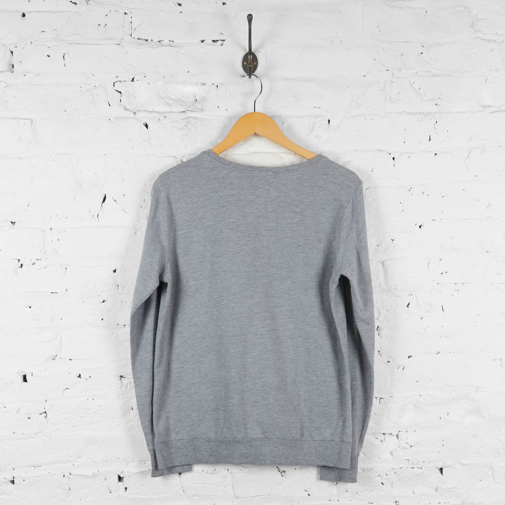 Womens Minnie Mouse Sweatshirt - Grey - Womens M