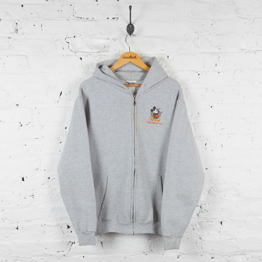 Walt Disney World Full Zip Hoodie - Grey - L