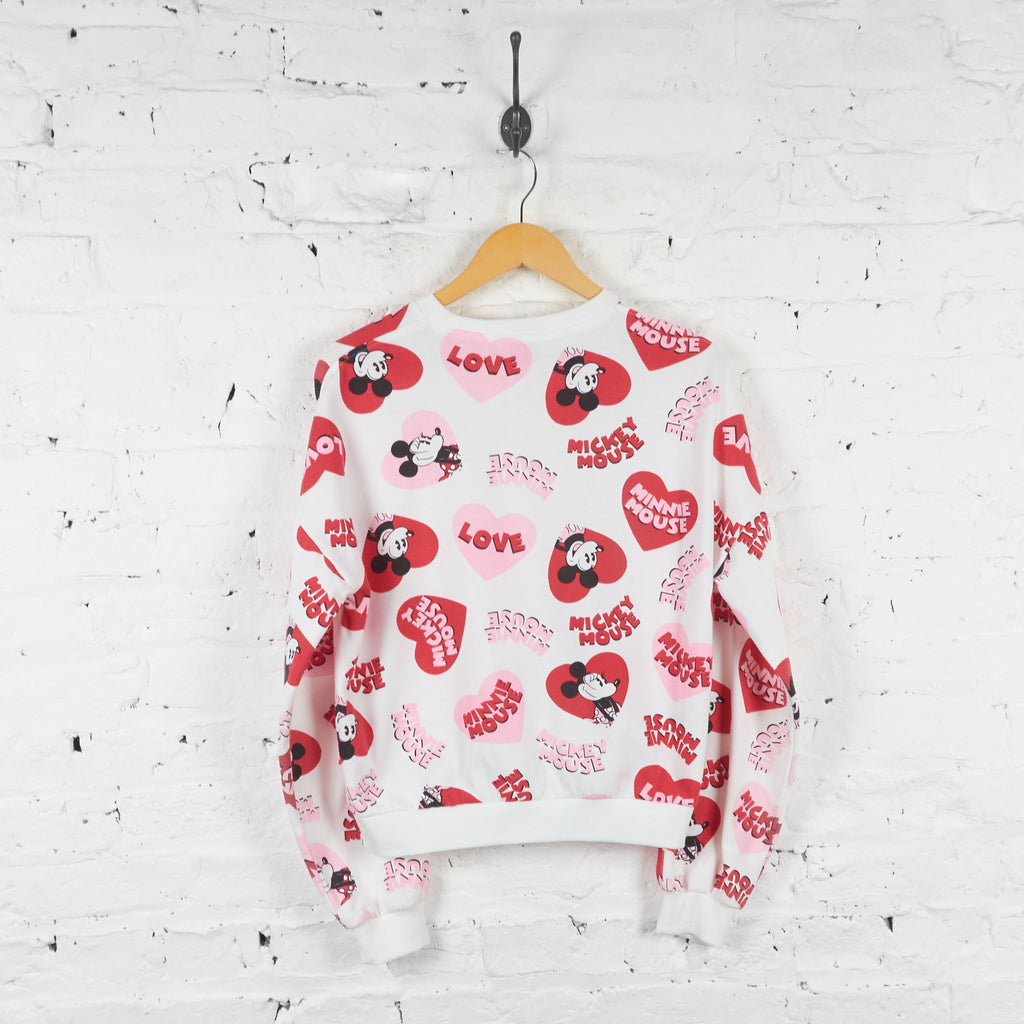 Womens Love Minnie Mouse Disney Sweatshirt - White - Womens M