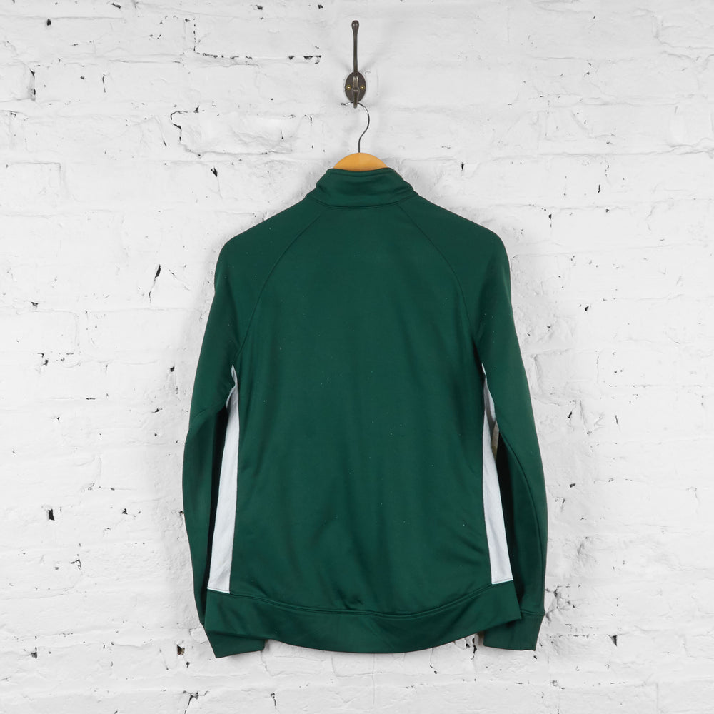 Womens Green Bay Packers Tracksuit Top Jacket - Green - Womens M
