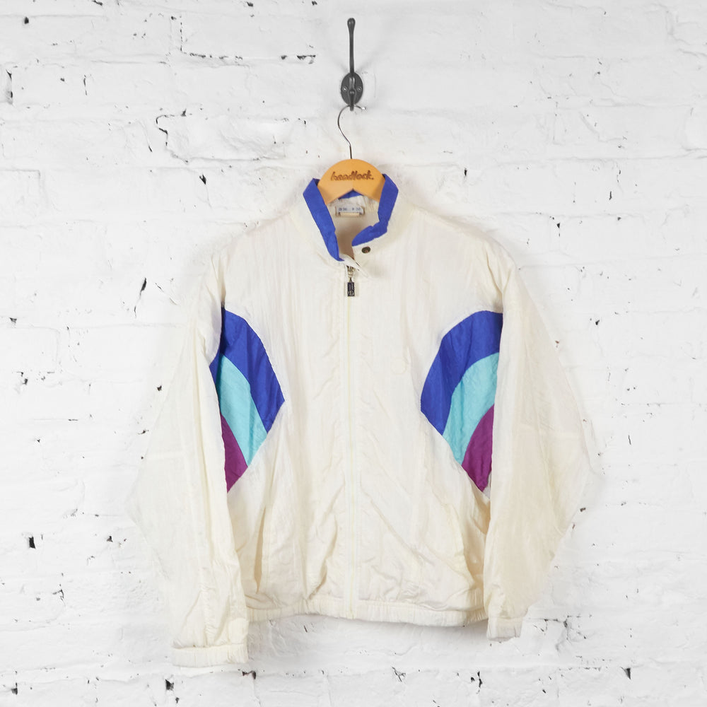 Vintage Sergio Tacchini Windbreaker Jacket - White - M - Headlock