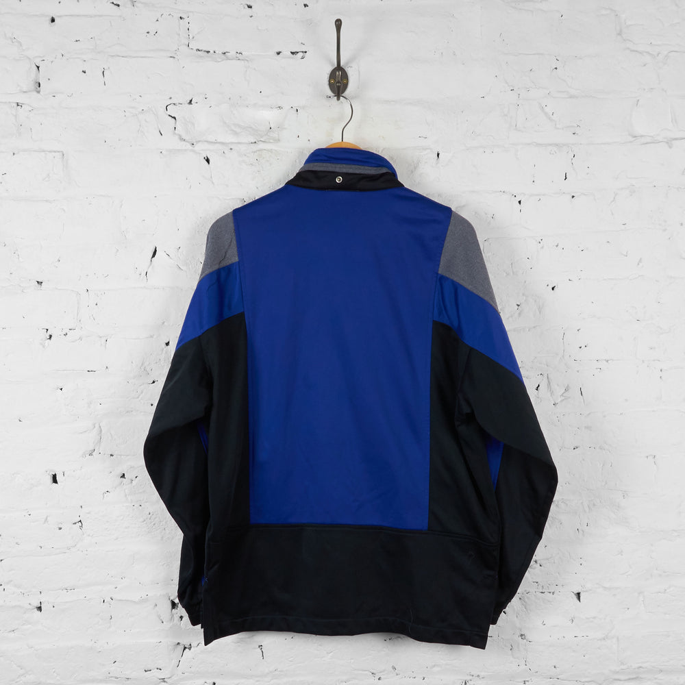 Vintage FILA Patterned Tracksuit Top - Blue - M - Headlock
