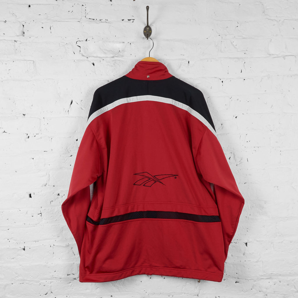 Vintage Reebok Tracksuit Top - Red/Black - XL - Headlock
