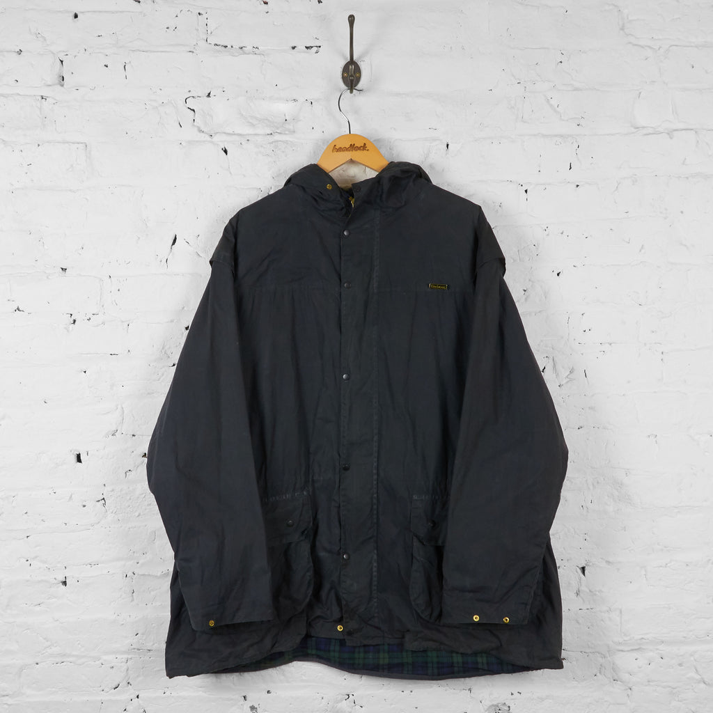 Vintage Durham Barbour Jacket - Black - XL