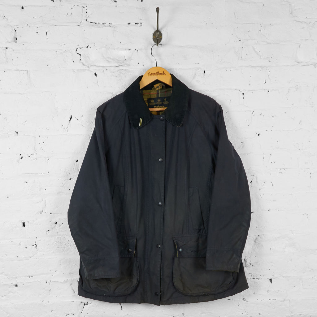 Vintage Women's Barbour Was Jacket - Navy - 18