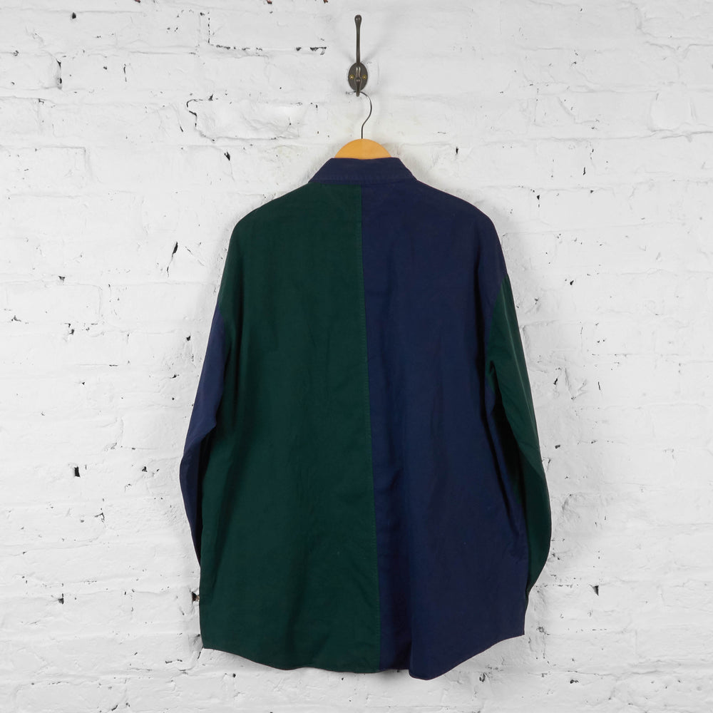Vintage Tommy Hilfiger Striped Shirt - Green/Navy - L - Headlock