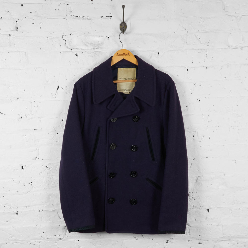 Vintage Ralph Lauren Denim & Supply Coat - Navy - L - Headlock