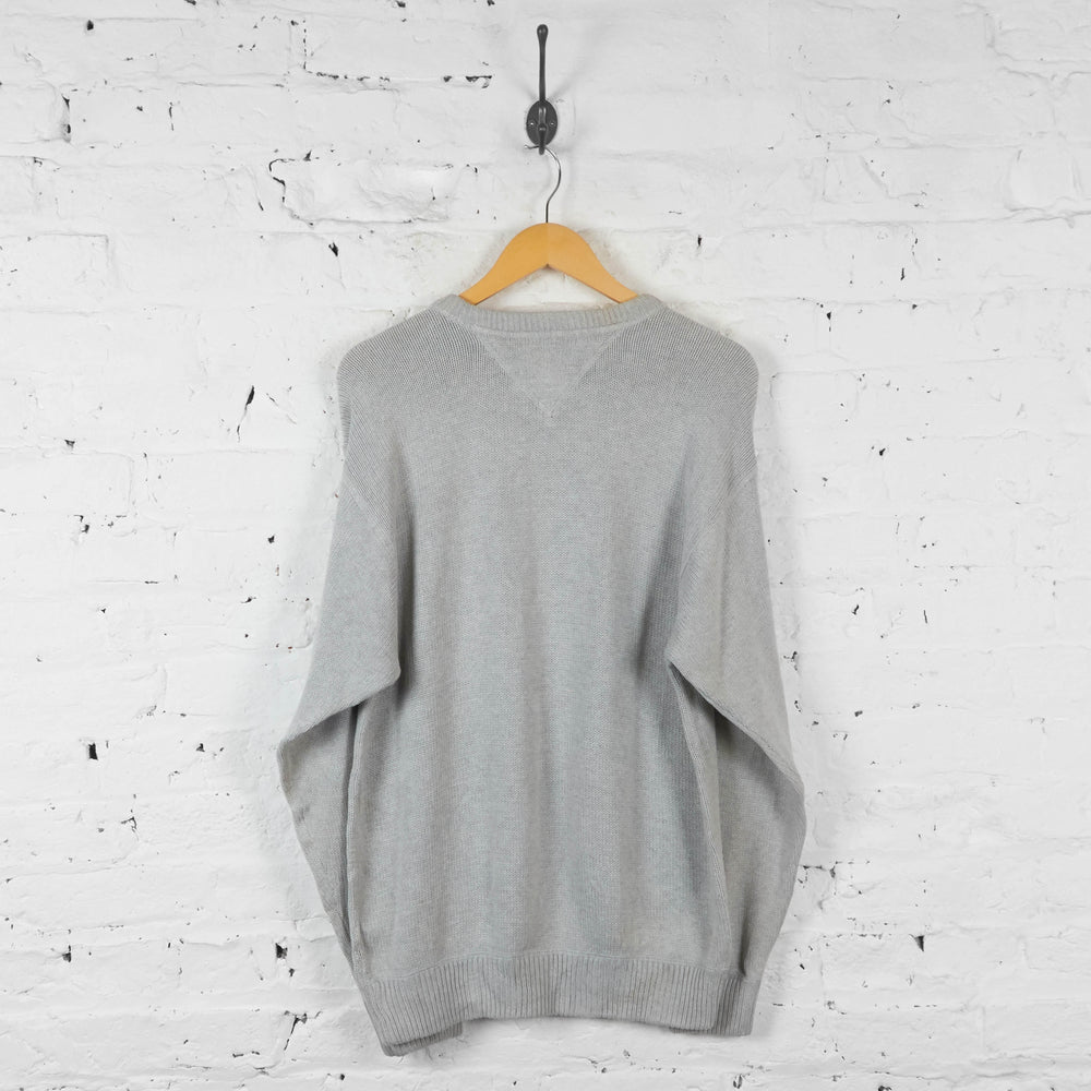 Vintage Tommy Hilfiger Jumper - Grey - S - Headlock