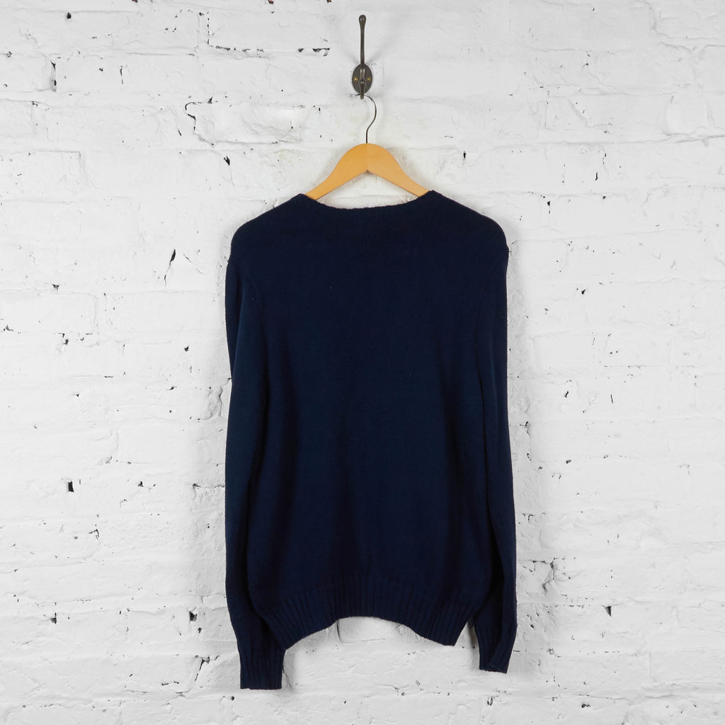 Vintage Ralph Lauren Knitted Jumper - Navy - M - Headlock