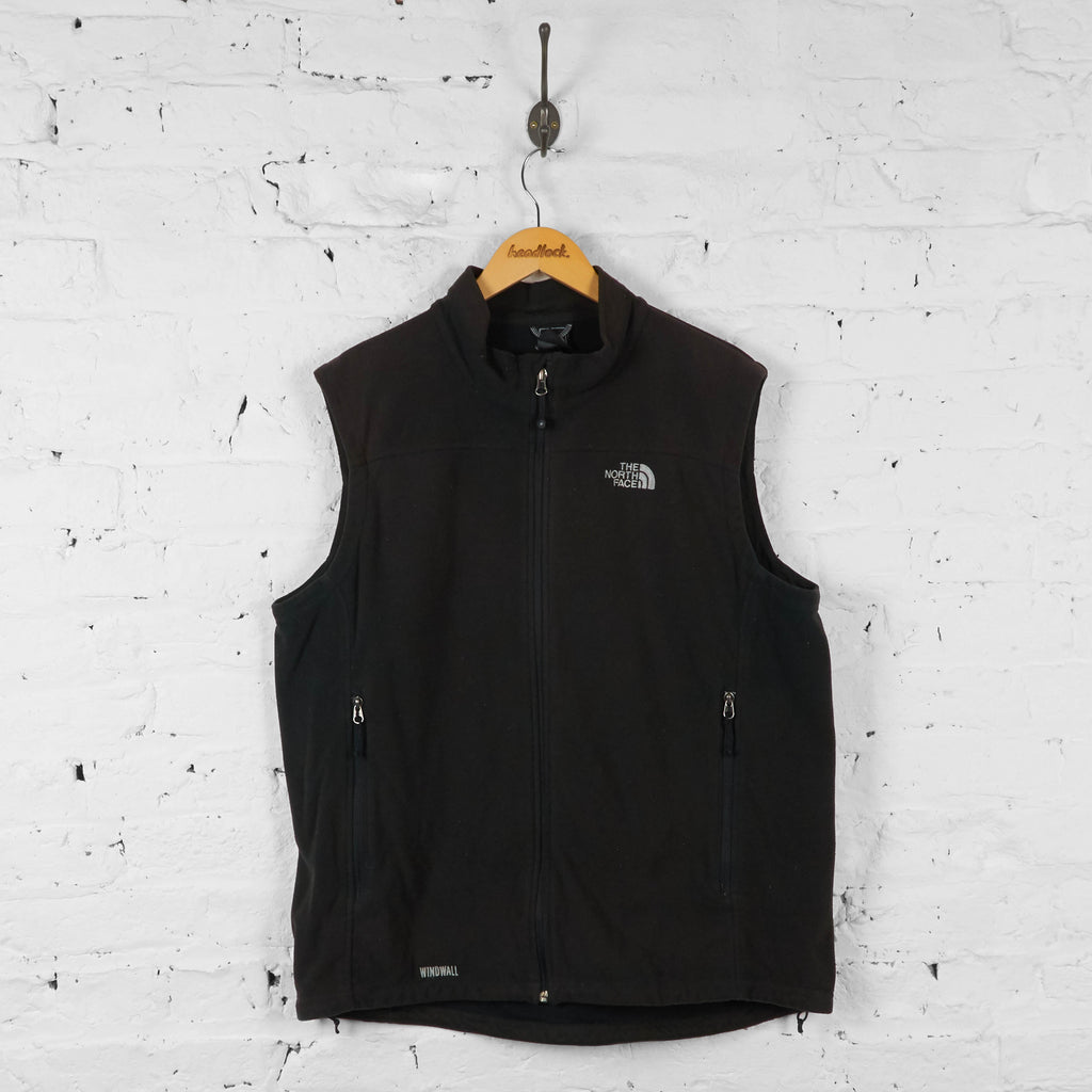 Vintage The North Face Fleece Gilet - Black - XL