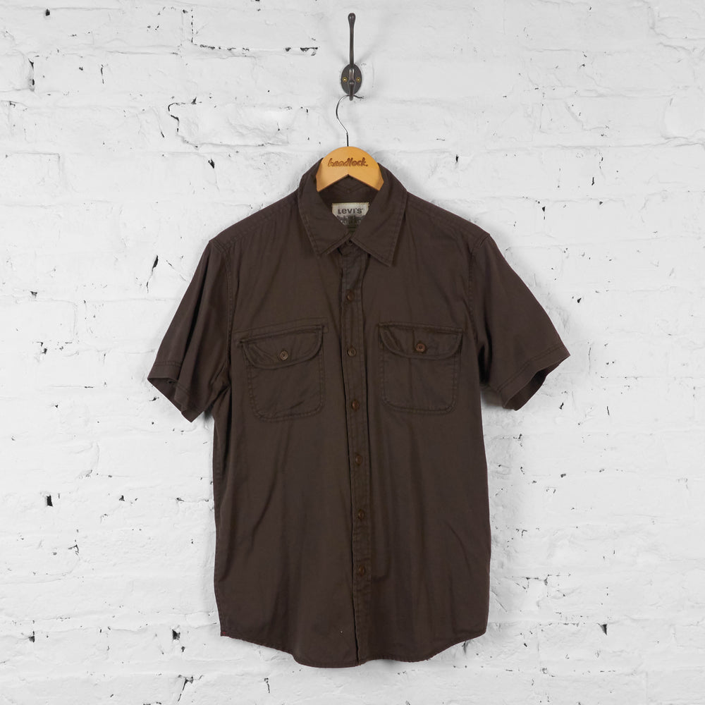 Vintage Levi's Short Sleeved Shirt - Brown - M - Headlock