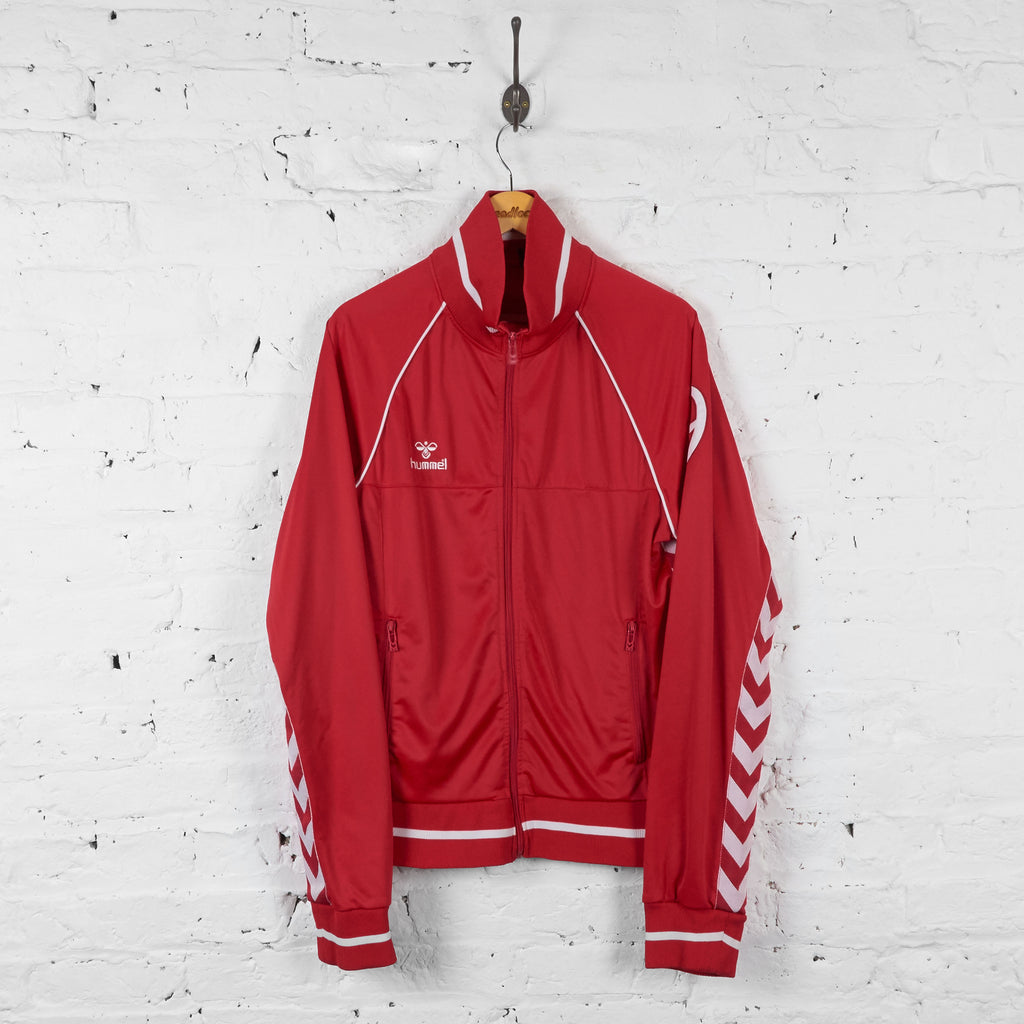 Vintage Hummel Tracksuit Top - Red/White - S - Headlock