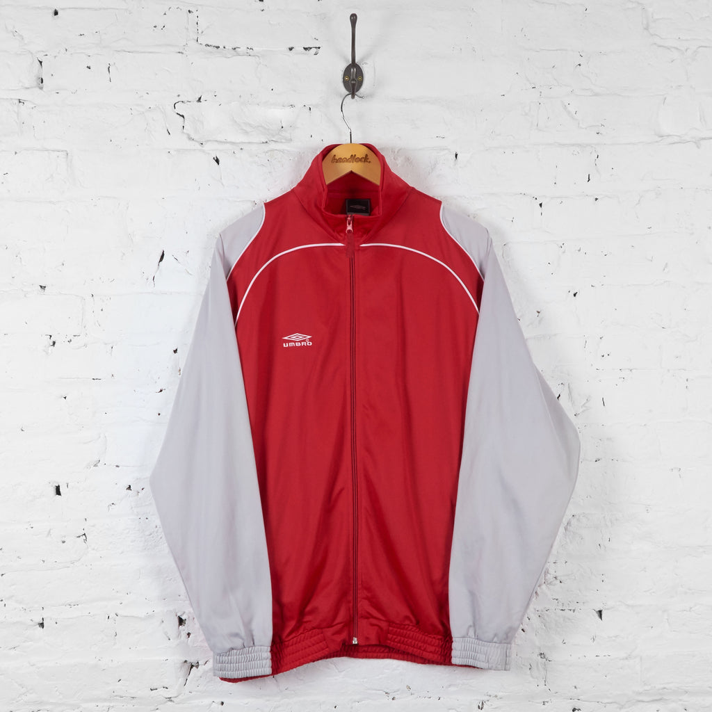 Vintage Umbro Tracksuit Top - Red/Grey  - XXL - Headlock